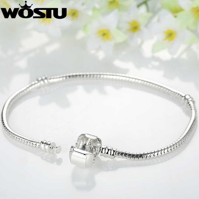 Gorąca sprzedaż 16-23cm srebrny i złoty kolor miłość wąż łańcuch Fit oryginalna bransoletka Charm DIY paciorek bransoletki biżuteria dla kobiet mężczyzn