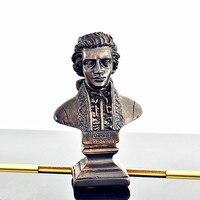 Musician Statue Mozart Chopin Beethoven Tchaikovsky Schubert Strauss Bust Resin Art Craft Desktop Decoration Office Gift L2694