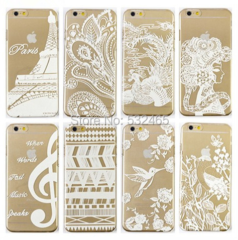 newest bc75a a8bc3 US $95.0 |Transparent Hard Plastic Flower Mandala Henna White Floral  Paisley Pattern Back Cover Case for Apple Iphone 5S 5 5C 4 4S on  Aliexpress.com | ...