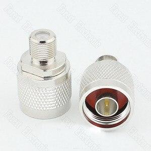 50 шт./лот N/F-JK N Штекерный к F гнездовой разъем RF коаксиальный разъем для поворота сигнала телефона