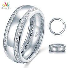Павлин звезда круглая огранка Мужская обручальное кольцо Твердые кольцо стерлингового серебра 925 ювелирных изделий CFR8052