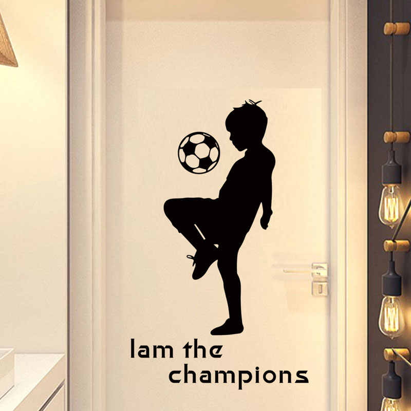 Decorative Children's Room Boy's Bedroom English I am the champions Background Decorative Wall Stickers Kids Wall Sticker