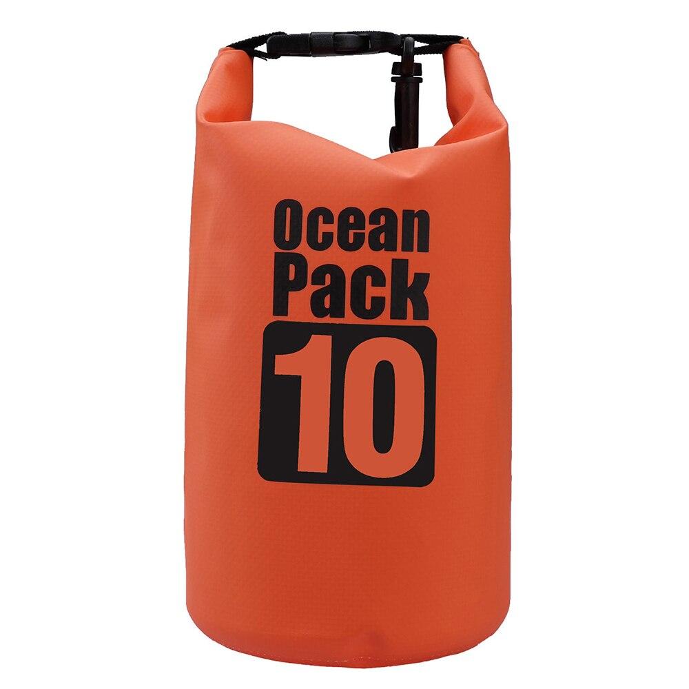 10L Waterproof Storage Dry Carry Bag Sack Backpack Pouch Boat Kayak Orange