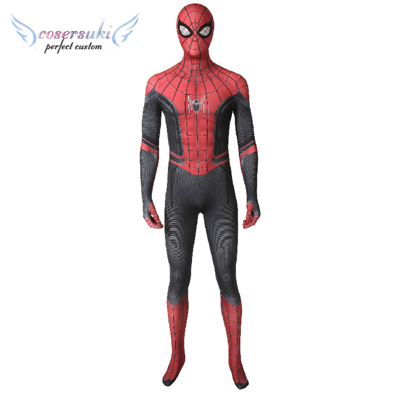 Spider-Man Far From Home Spider-Man Peter Parker Costume Halloween Christmas Cosplay  Costume Perfect Custom for You !