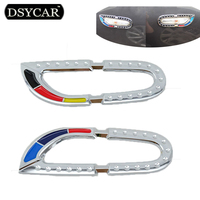 1Pair Car Turning Lights Sticker Side Flasher Lamps Frame Metal Decoration For BMW 3 Series 320I