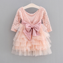 Girls Dress 2019 New Lace Tulle Cake Girls Summer Dress Lace