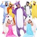 Unisex Animals Costumes Onesies Coral fleece Cartoon Mascot  Pajamas Cosplay Funny Fancy Winter