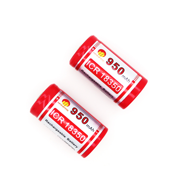 2018 Mainifire 18350 ICR <font><b>950mah</b></font> <font><b>3.7V</b></font> <font><b>battery</b></font> high quality rechargeable <font><b>battery</b></font> with button top free shipping (1 pc) image