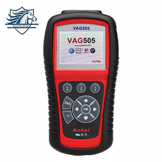 Бесплатная Доставка Autel MaxiService VAG505 Scan Tool Для VW Для AUDI Для СИДЕНЬЯ Для SKODA Поддержка Онлайн-Обновление