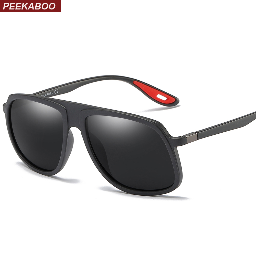 41b536bb38c ... sunglasses men TR90 fashion 2019 summer driving sun glasses for men  polarized uv400 matte black. -29%. Click to enlarge