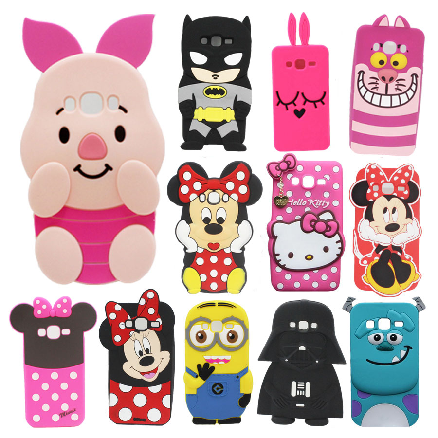 3d Cartoon Phone Silicone Soft Case Back Cover For Samsung Galaxy Grand Neo Plus I9060i I9060 Duos I9082 9082 I9080 Cases