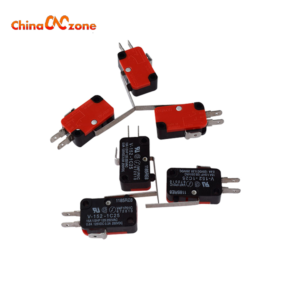10pcs Long Hinge Lever Momentary Micro CNC Limit Switch V-152-1C25 for CNC Router Lower Price 100pcs v 152 1c25 straight hinge lever ac dc micro switch