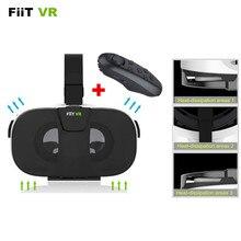 FIIT VR 3Dเสมือนจริงภาพยนตร์วิดีโอชุดหูฟังGafasแตกแยกบัตร-คณะกรรมการ2.0 VRแว่นตา+บลูทูธควบคุมGamepad