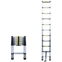 10.50FT (3,2 м) Бытовая складываемый алюминиевый сплав лестницы 11 шагов выдвижные лестницы телескопическая Выдвижная
