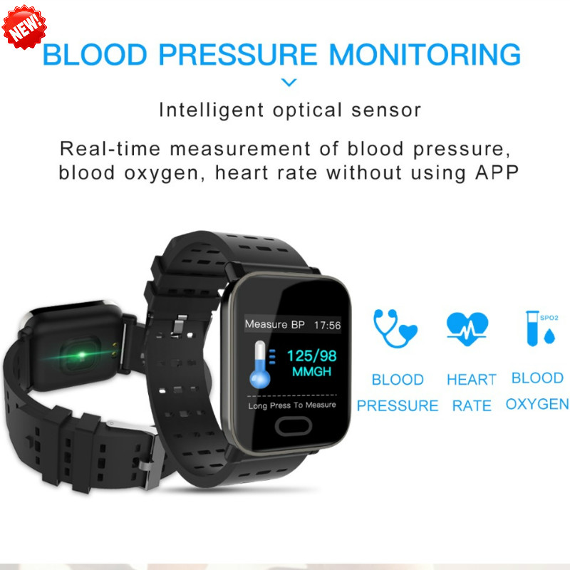 Bluetooth Smart Wristband Screen Blood Pressure Fitness Tracker Heart Rate Monito for Android iPhoneTouch Screen fitnessTracker-in Smart Wristbands from Consumer Electronics