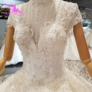 Image 2 - AIJINGYU נישואי שמלת באינטרנט גבוהה רחוב שמלות ללבוש מצרים אירוסין לבן כלה תורכי מקרית שמלות חתונה מלכותית שמלה