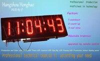 Открытый два лица, двойной светодиодный дисплей часы, в режиме реального времени, countdwon (до) дисплей, красный цвет большой светодиодный диспл