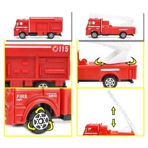 Image 5 - 6 סוגים Diecast אש משאית מיני סגסוגת Glide רכב דגם צעצועי פלסטיק כלי רכב צעצועי מסוק סירת מרוץ מתנות עבור בני ילדים משחק