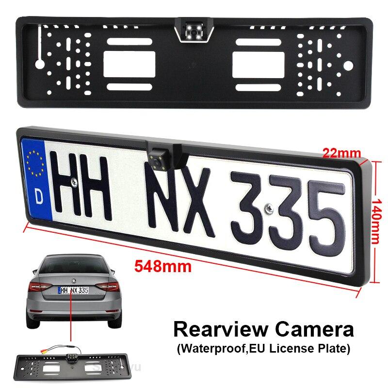 Sinairyu Universal 4 LED Night Vision European License Plate Frame ...