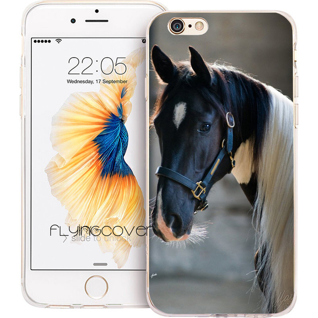 coque iphone 5 cheval silicone