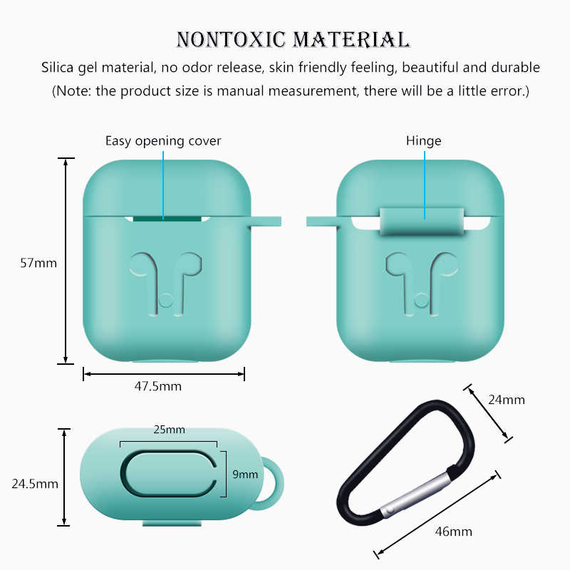 Dla przypadku AirPods silikonowe etui ochronne obudowa odporna na wstrząsy Earpods Case dla Apple słuchawki do Airpod przypadku ładowarka akcesoria