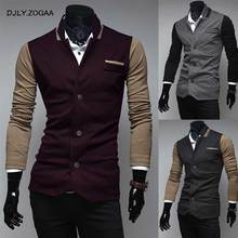 ZOGAA 2019 New Men Coat Korean Fashion Color Matching Personality Mens Casual  Small Suit
