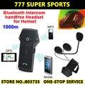 FM Radio Suporte por Telefone Bluetooth Intercom Motorcycle & Fones de ouvido do Capacete de Esqui Mão Função NFC
