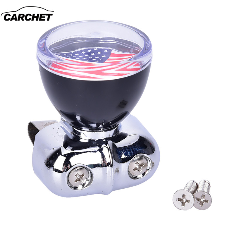 CARCHET Car Styling Power Assisted Ball,USA American Flag Steering Wheel Spinner Suicide Knob Handle for Universal Car USPS