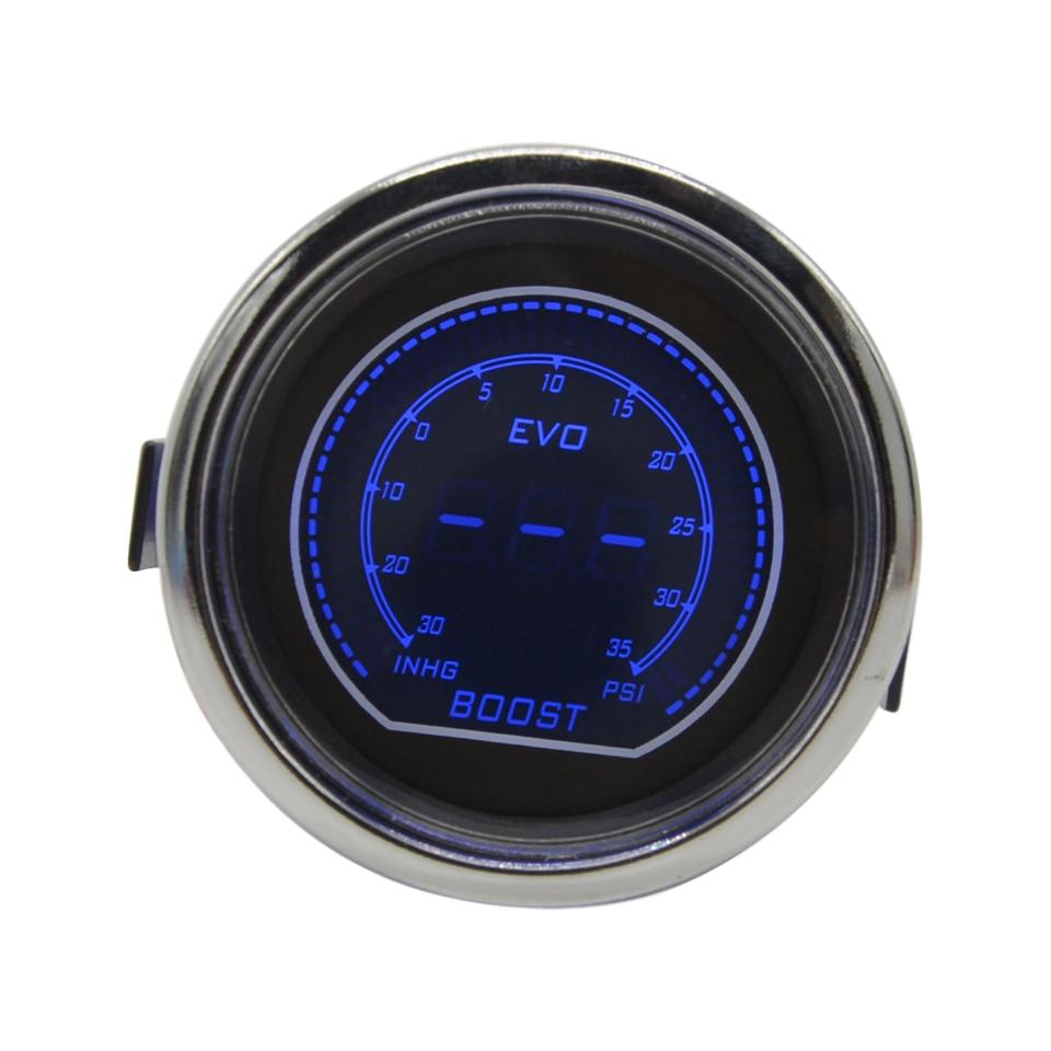 Датчик дракона, белый корпус, дымовая линза 52 мм, автомобильный масляный манометр, Турбинный цифровой красный/синий светодиодный Манометр