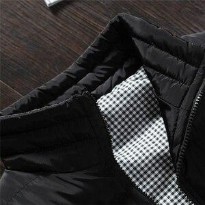 Image 5 - 겨울 남자 2019 캐주얼 양복 조끼 플러스 크기 5xl 조끼 봄 가을 남자 조끼 망 코트 남자 새로운 세련 된 따뜻한 민소매 자 켓