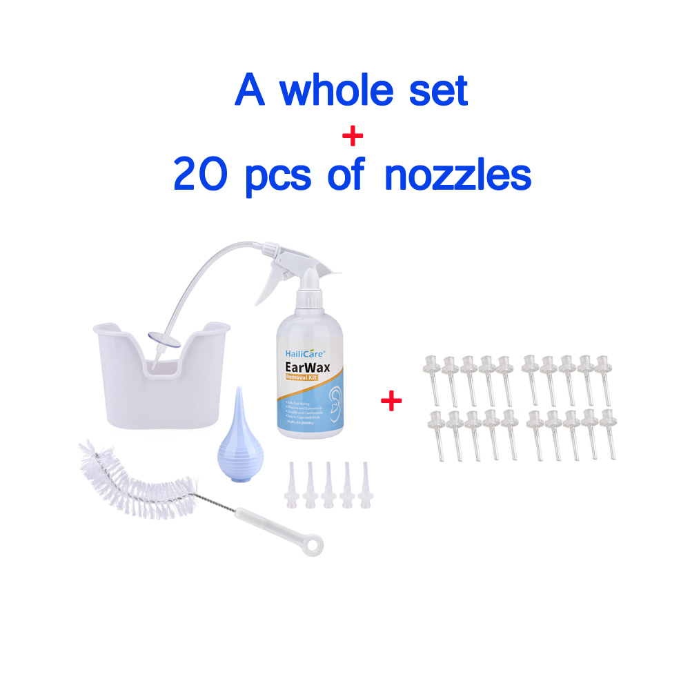 FDA Ear Wax Cleaning Tool Ear Irrigation Washing Kit Ear Wax Removal Set With Squeeze Bulb/Syringe/Brush For Adults Kids