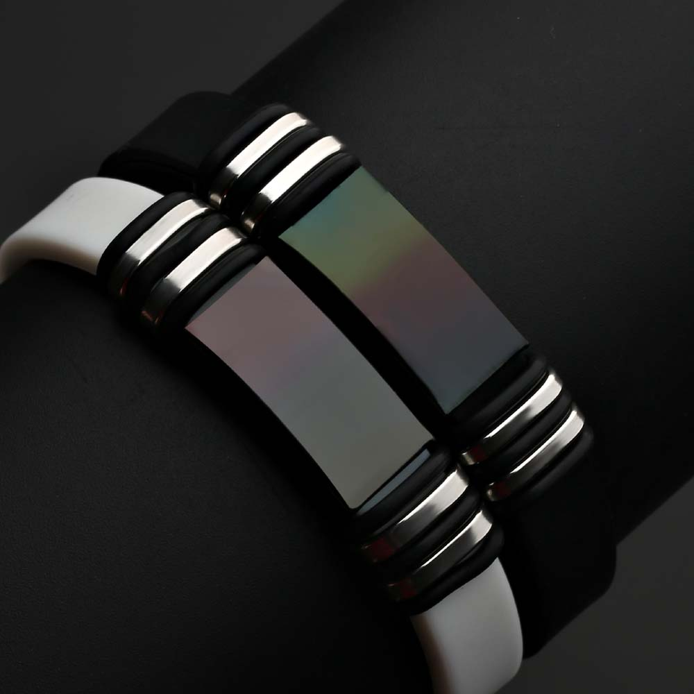 2018 unique Fashion Street Basketball Sports Silicone Bracelet Men Custom Wholesale Titanium Steel Bracelet pulseira feminina