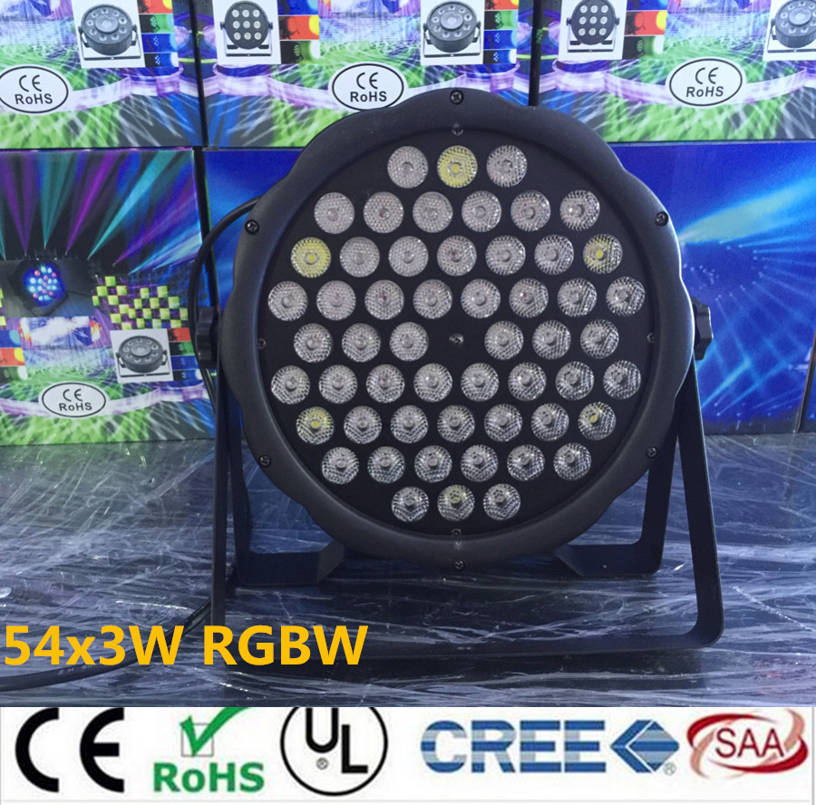 led par lights 54x3W DJ Par LED RGBW Wash Disco Light DMX Controller effect Free Shipping 4xlot free shipping led par can 54x3w rgbw led par light strobe dmx controller for dj disco bar strobe dimming effect projector