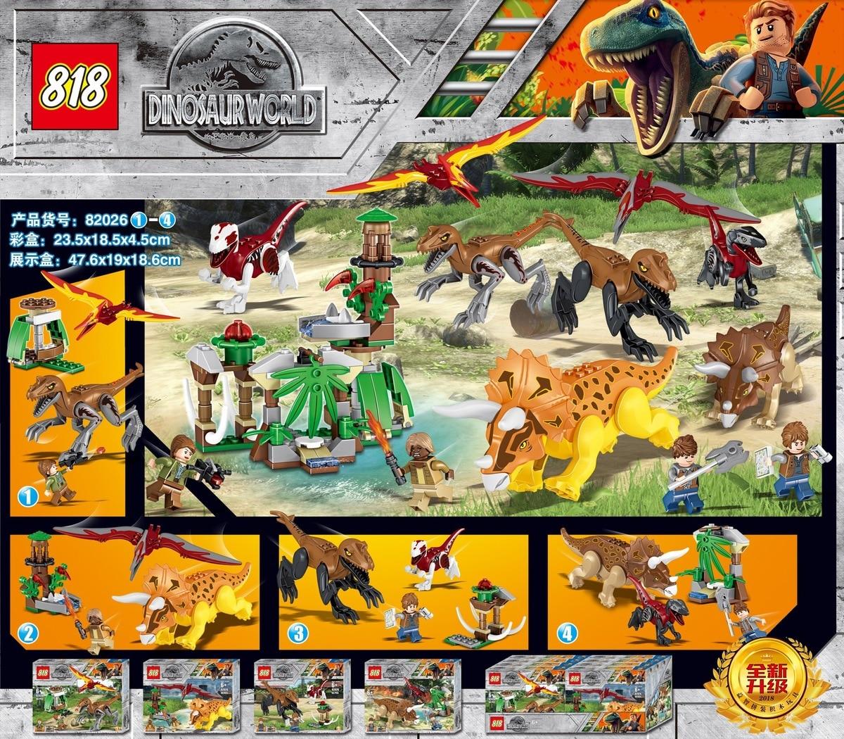 82026 Tyrannosaurus Triceratops Pterosaurs Dinosaur  Building Block Bricks Toys For Kid Suitable   Jurassic World Gift