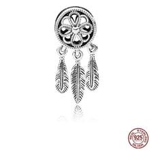 925 Sterling Silver Beads Spiritual Dream Catcher Beads for Jewelry Making fit Original Pandora Bracelets Women DIY Jewelry цена