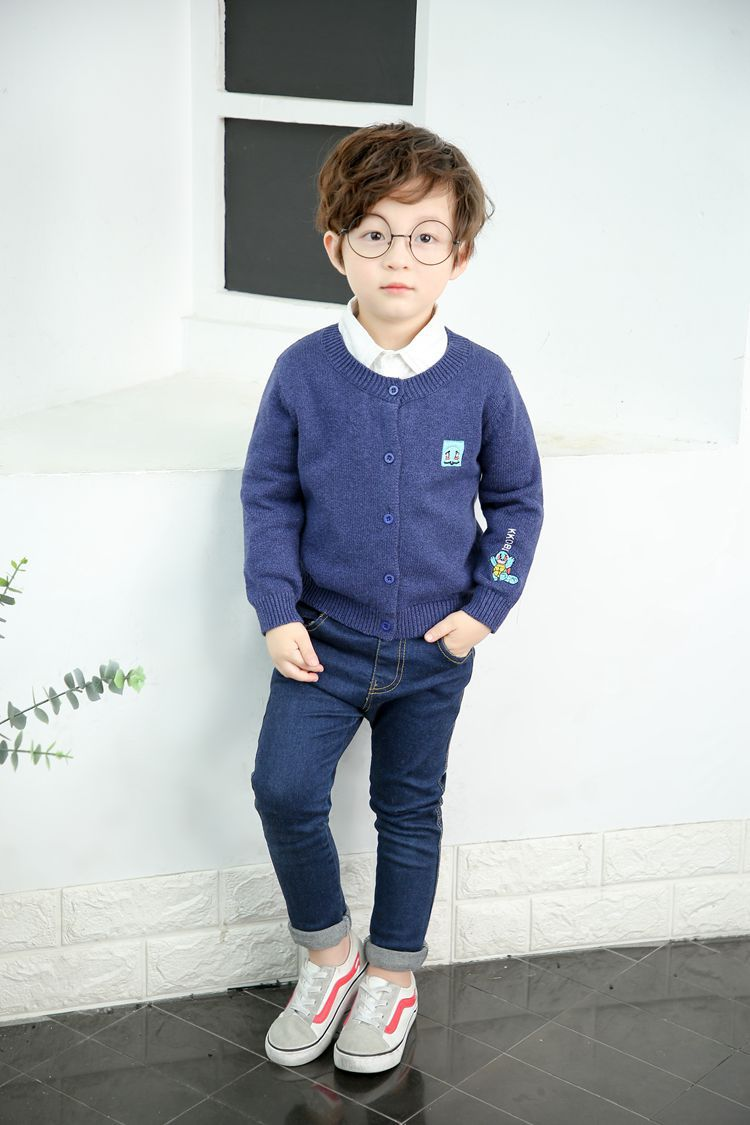 New cute winter boy kid thick Knitted shirts solid pullover sweaterNew cute winter boy kid thick Knitted shirts solid pullover sweater