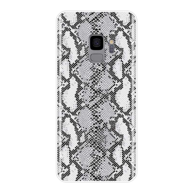 TPU יוקרה נחש עור חזרה עבור סמסונג גלקסי S5 S6 S7 קצה S8 S9 בתוספת רך סיליקון טלפון Case עבור סמסונג הערה 4 5 8 9