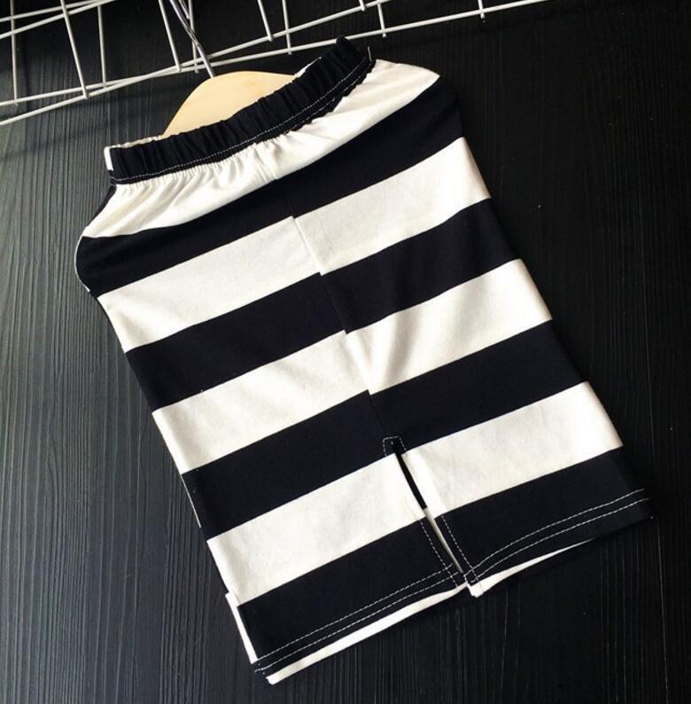 MERI AMMI/комплект одежды из 2 предметов, комплект для малышей, черный топ+ рубашка в полоску, облегающая модная одежда, облегающий наряд для девочки 2-9 лет, J556