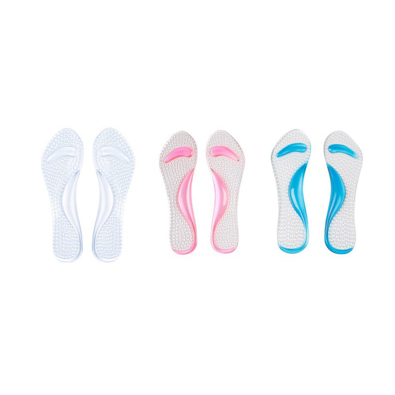 Non-Slip Women Gel 3/4 Length Arch Support Anti-slip Massaging Metatarsal Cushion Orthopedic Insoles for High Heels Shoes soumit 5 colors professional yoga socks insoles ballet non slip five finger toe sport pilates massaging socks insole for women