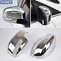 Fit For Ford Focus Mk3 Chrome Door Side Rear View Mirror Cover Trim Cap Overlay Garnish Molding  2012 2013 2014 2015 2016 2017
