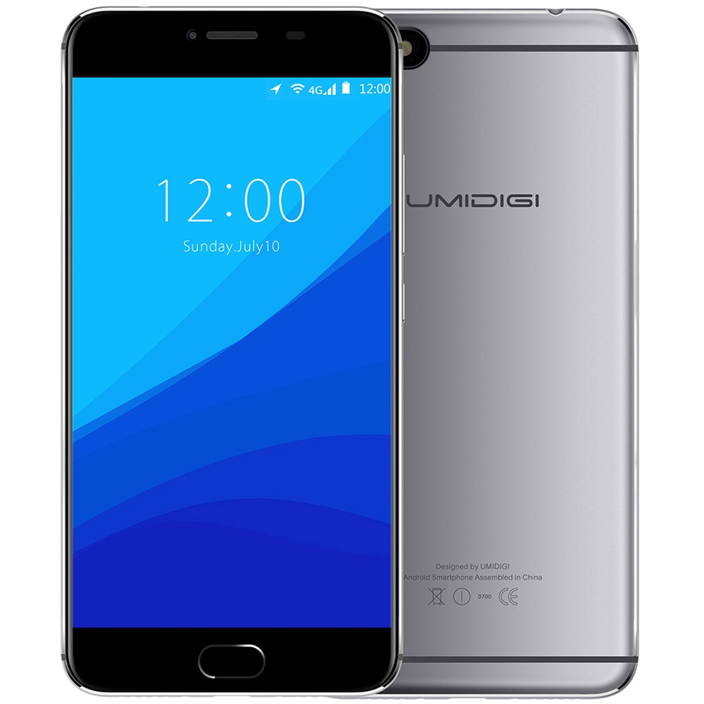 Original UMIDIGI C NOTE 4G Phablet 5 5 inch Android 7 0 MTK6737T Quad Core 3GB