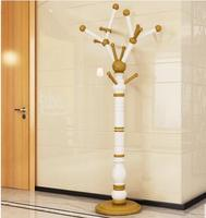 Clothes hanger. Be born shelf. Solid wood clothes tree