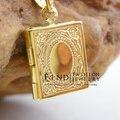 koran box gold Muhammad,gold plated Allah Muslim Islamic Quran Books Pendant Necklaces Women & Men Unisex 3PCS/LOT