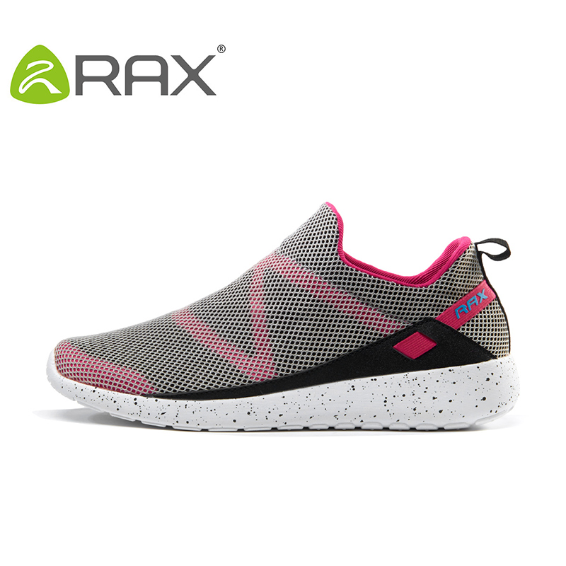 Rax 2017 New Women Lightweight Running Shoes Breathable Outdoor Sports Shoes Slip On Traveling Sneaker Backpacking Walking Shoes