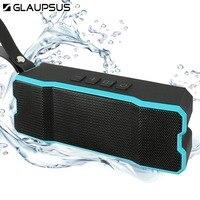 GLAUPSUS Bluetooth Speaker Outdoor Wireless Subwoofer IPX6 Waterproof Shockproof Dustyproof Loudspeaker 4500mA Stereo Soundbox