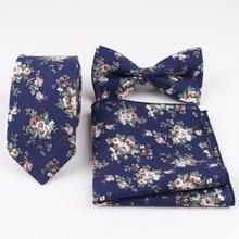 Neck-Tie-Set Cravat Bowtie Corbatas Slim-Tie Papillon Hankerchief Cotton Men for Devin