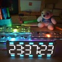 DIY Large Two Color Digital Clock DIY Kit 6 Digit LED Digital Tube Clock Kit Touch