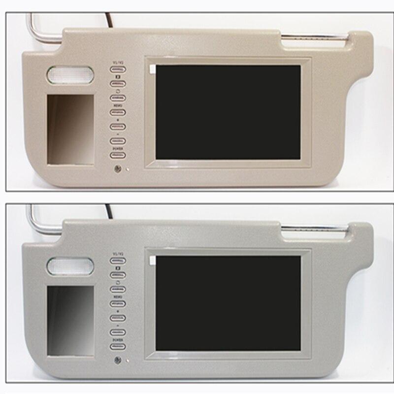 """Новый 7 """"влево или вправо солнцезащитный козырек автомобиля монитор солнце затенение доски экран двусторонняя видео вход реверсивный переключатель приоритет"""