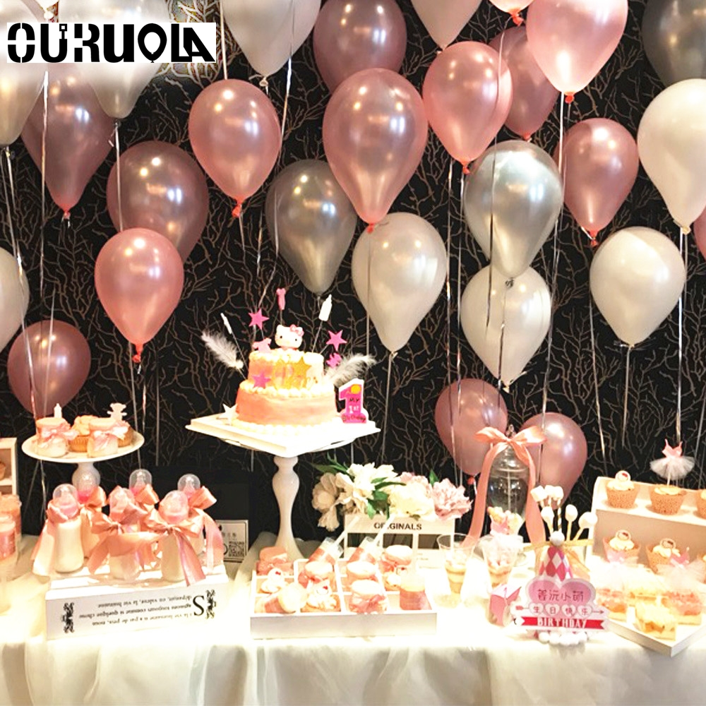 18.18g Baby Shower Balloons Decor For The Wedding Birthday