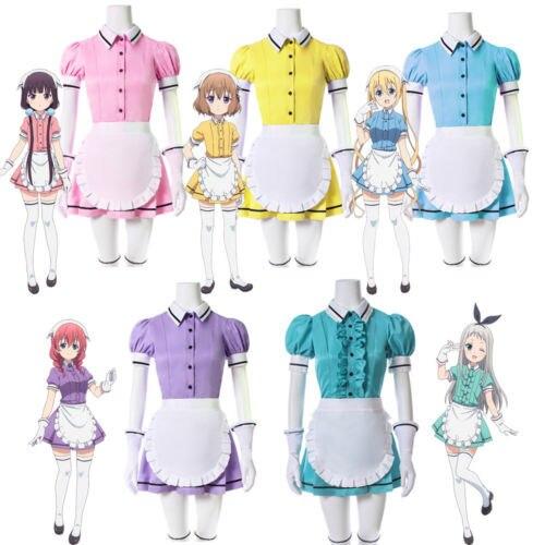 Blend S Maika Sakuranomiya Cosplay Costume Coffee Maid Uniform Suit Kaho Hinata Mafuyu Hoshikawa Miu Amano Hideri Kanzaki